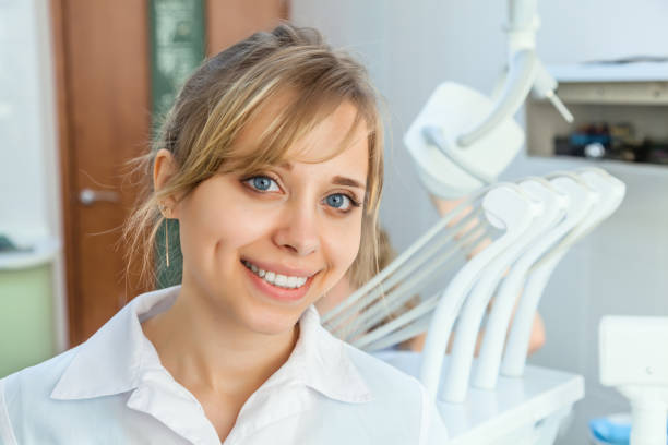 Young Professional Woman Dentist stock photo