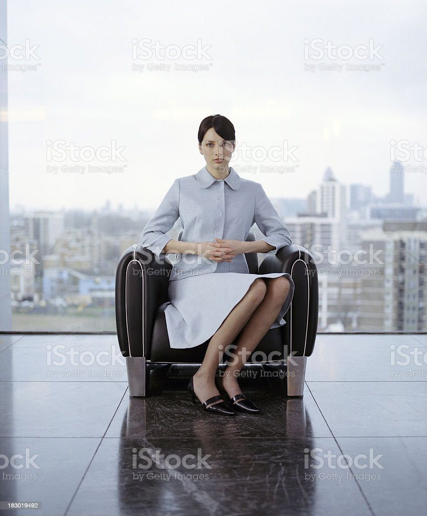 Young professional woman in contemporary office royalty-free stock photo