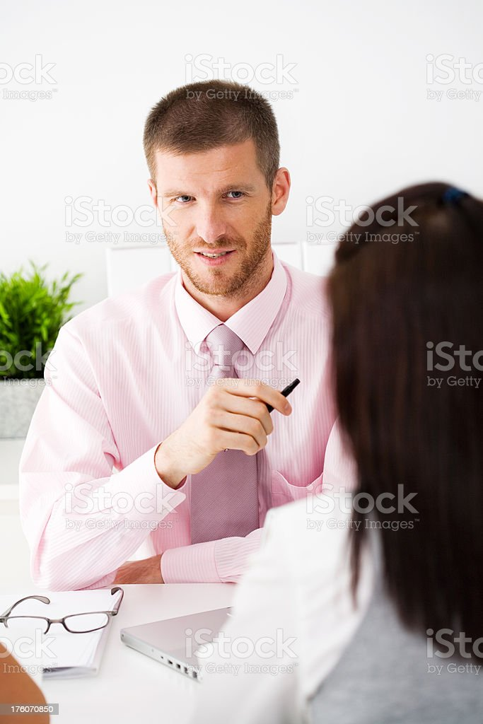 Young Professionals In A Business Meeting royalty-free stock photo