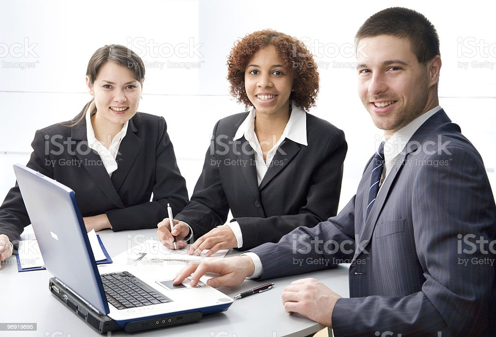 Young professionals royalty-free stock photo