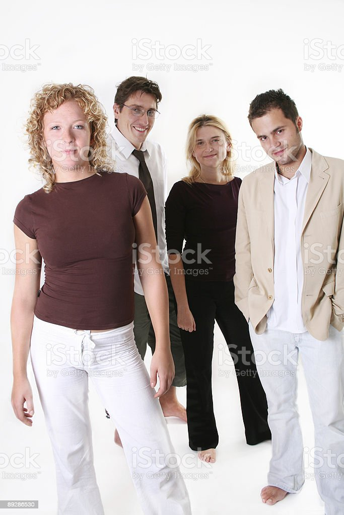 Young professionals with naked feet royalty-free stock photo