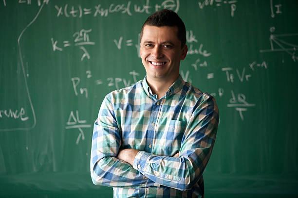 young professor - 数学の授業 ストックフォトと画像