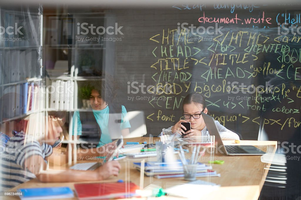 Young programmers in office foto royalty-free