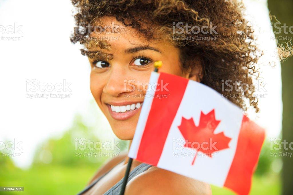 Junge Kanadierin stolze – Foto