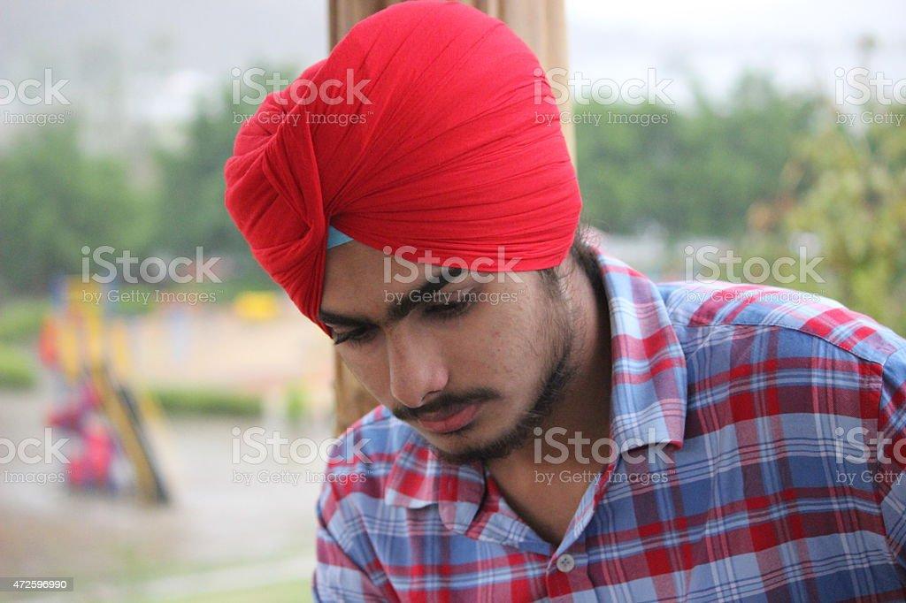 Young Punjabi Boy stock photo