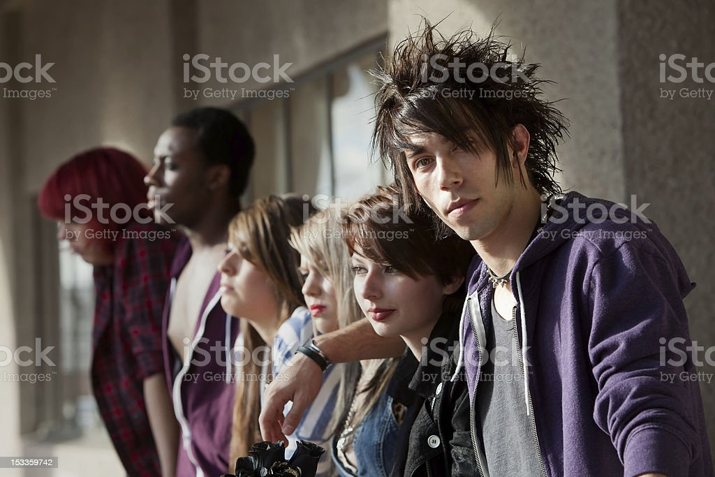 Young Punk Stares stock photo