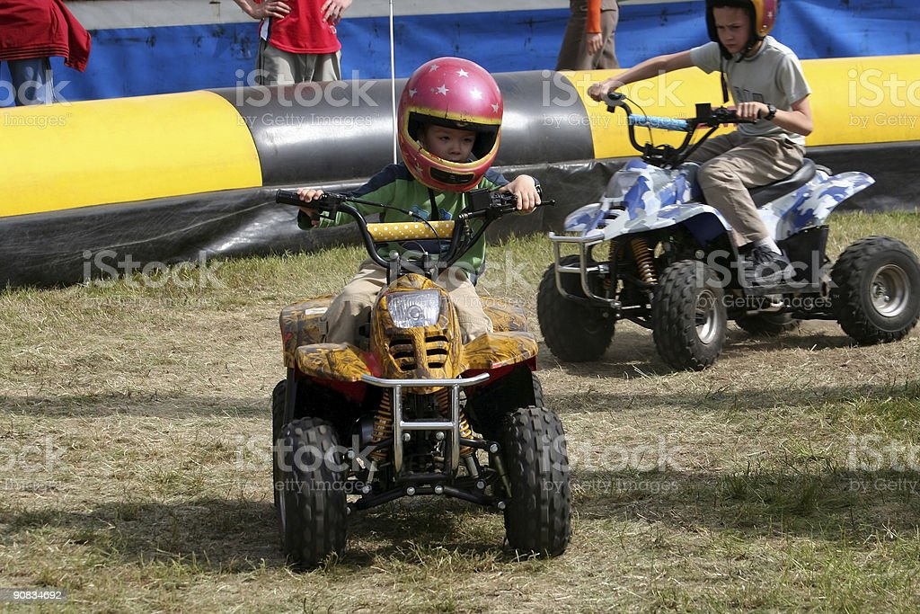 Young Quad Runner stock photo