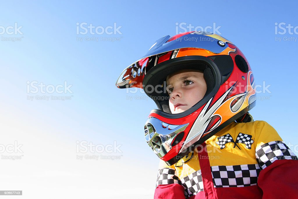 Young race car driver stock photo