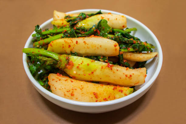Young radish kimchi. stock photo