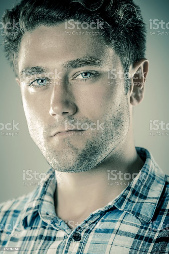Young real man portrait royalty-free stock photo