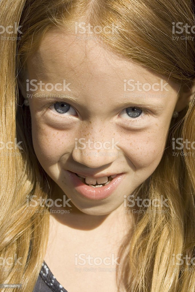 Young redhead girl royalty-free stock photo