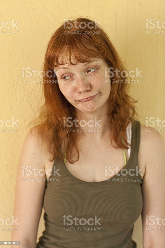 Young redhead stock photo