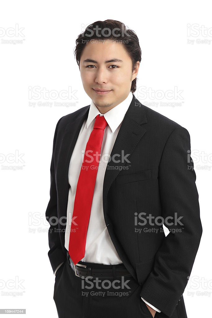 Young relaxed businessman royalty-free stock photo