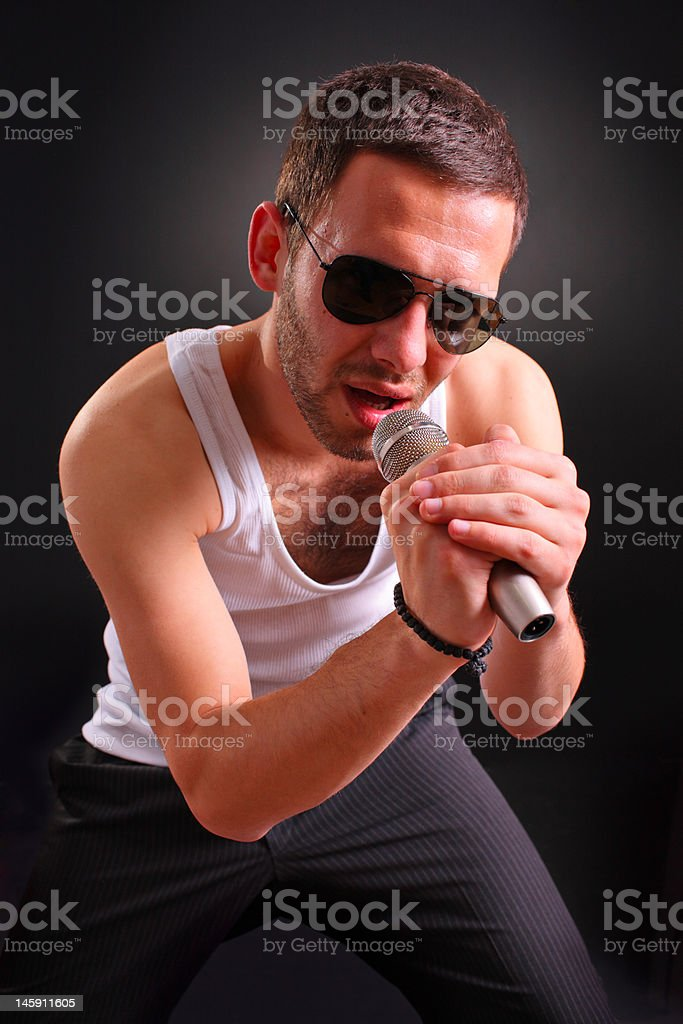 Young rock performer royalty-free stock photo