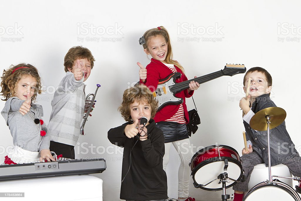 Young rock's band royalty-free stock photo