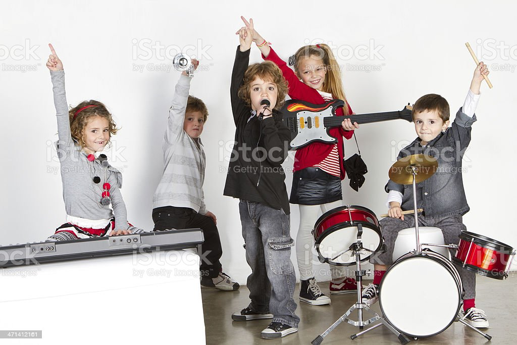 Young rock's band stock photo