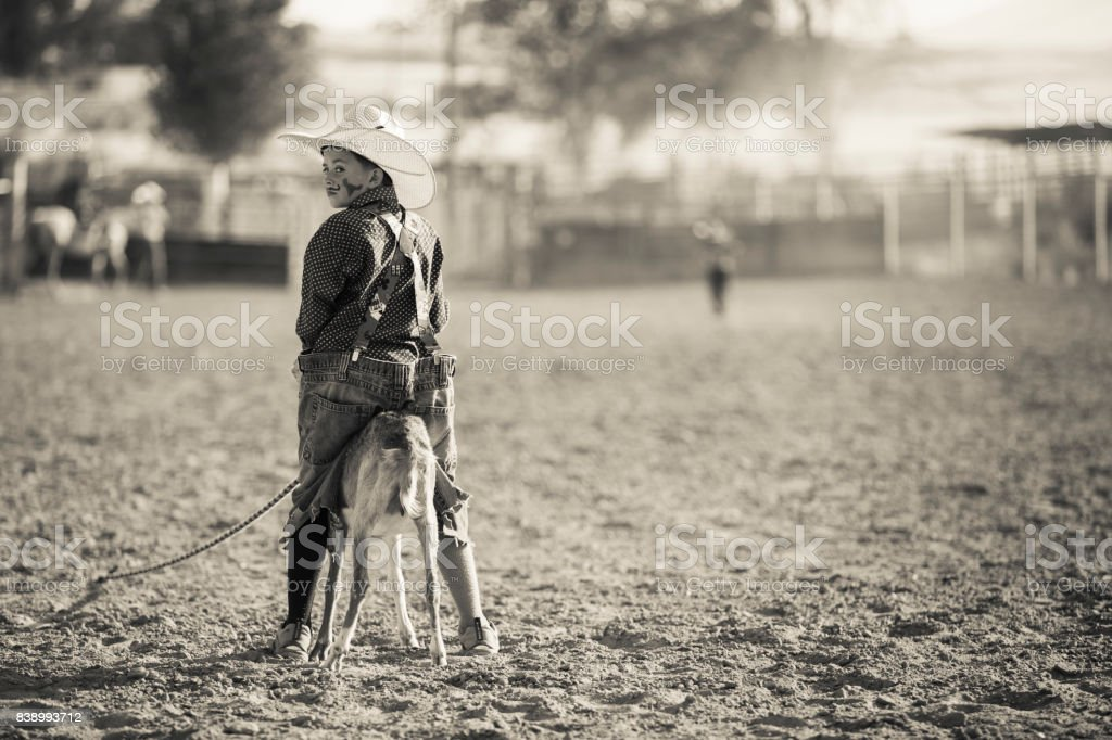 Young Rodeo Clown stock photo