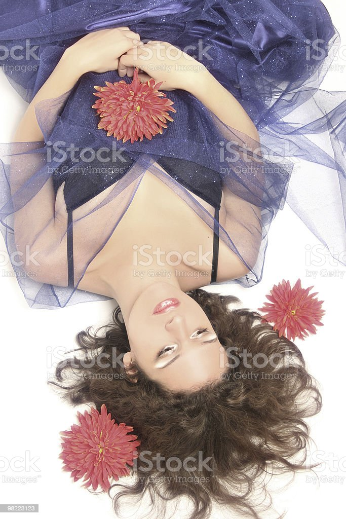 Young romantic woman royalty-free stock photo
