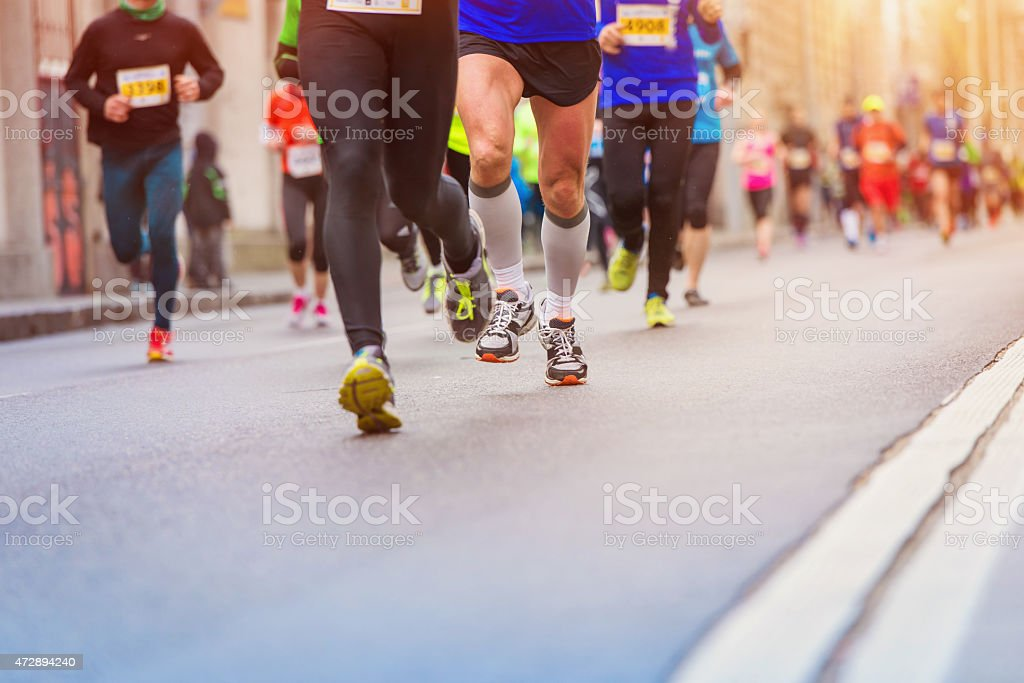 Young runner stock photo