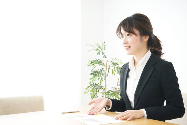 Young sales woman stock photo