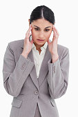 istock Young saleswoman experiencing a headache 824849802