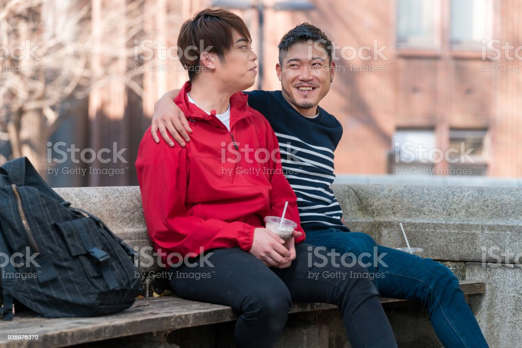 Relaxing homosexuals couple sex