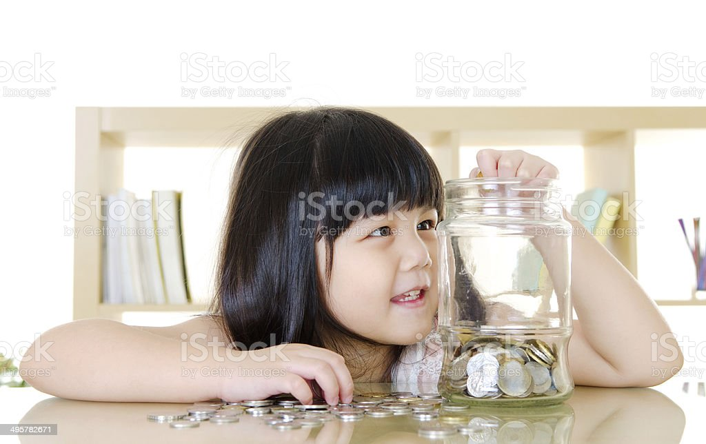 Young saver stock photo