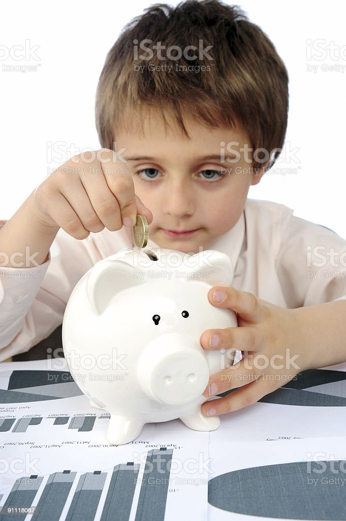 Young saver royalty-free stock photo