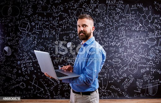 istock Young school teacher 486806878