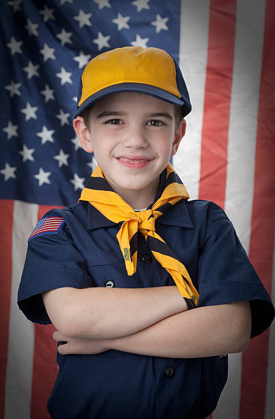 Young Scout stock photo