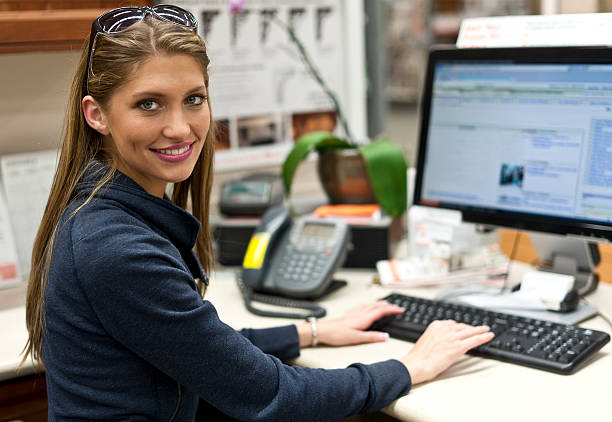 Young secretary stock photo