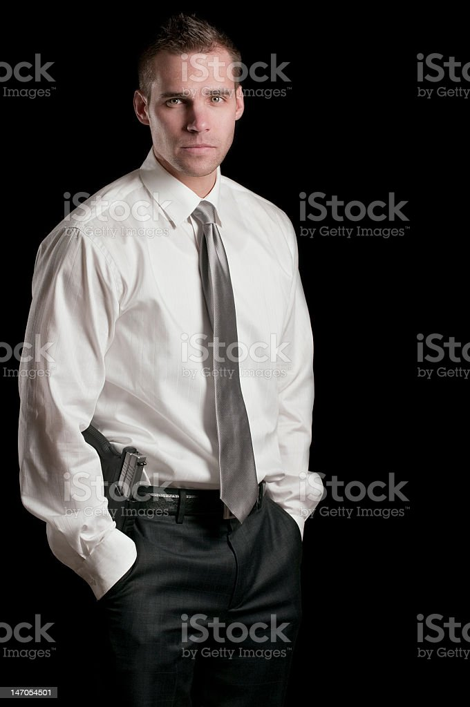 Young Security Officer royalty-free stock photo