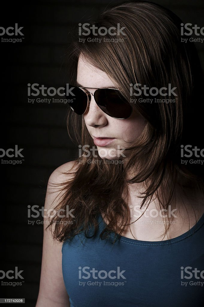 Young, serene woman stock photo
