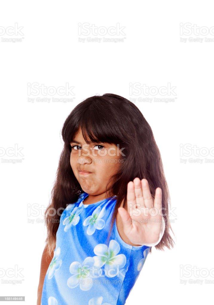 Young Serious Hispanic Girl royalty-free stock photo