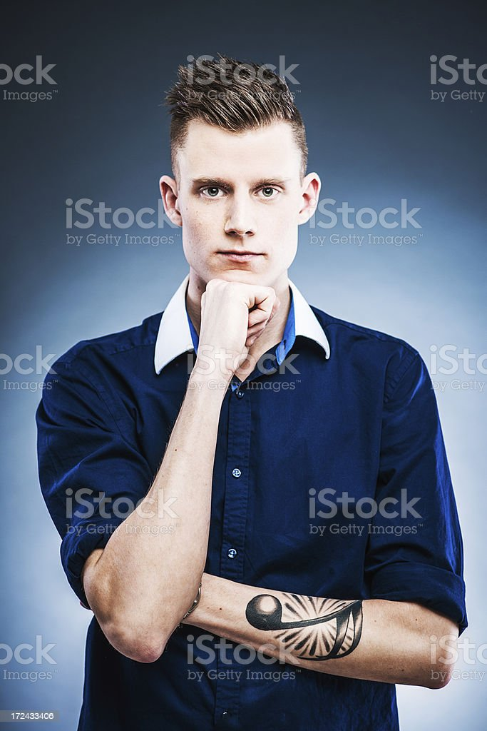 Young serious man royalty-free stock photo