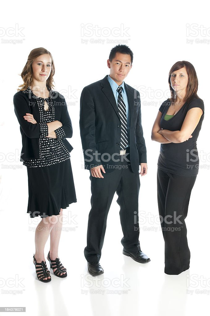 Young Serious Professionals royalty-free stock photo