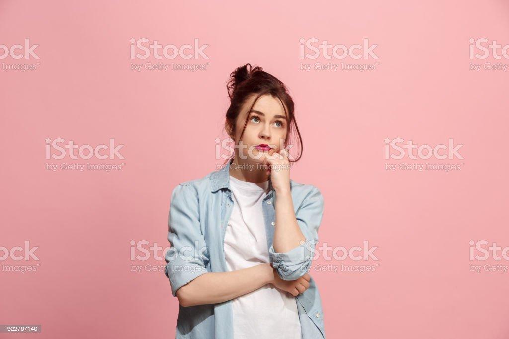 Junge nachdenklich ernst Frau. Zweifel-Konzept – Foto
