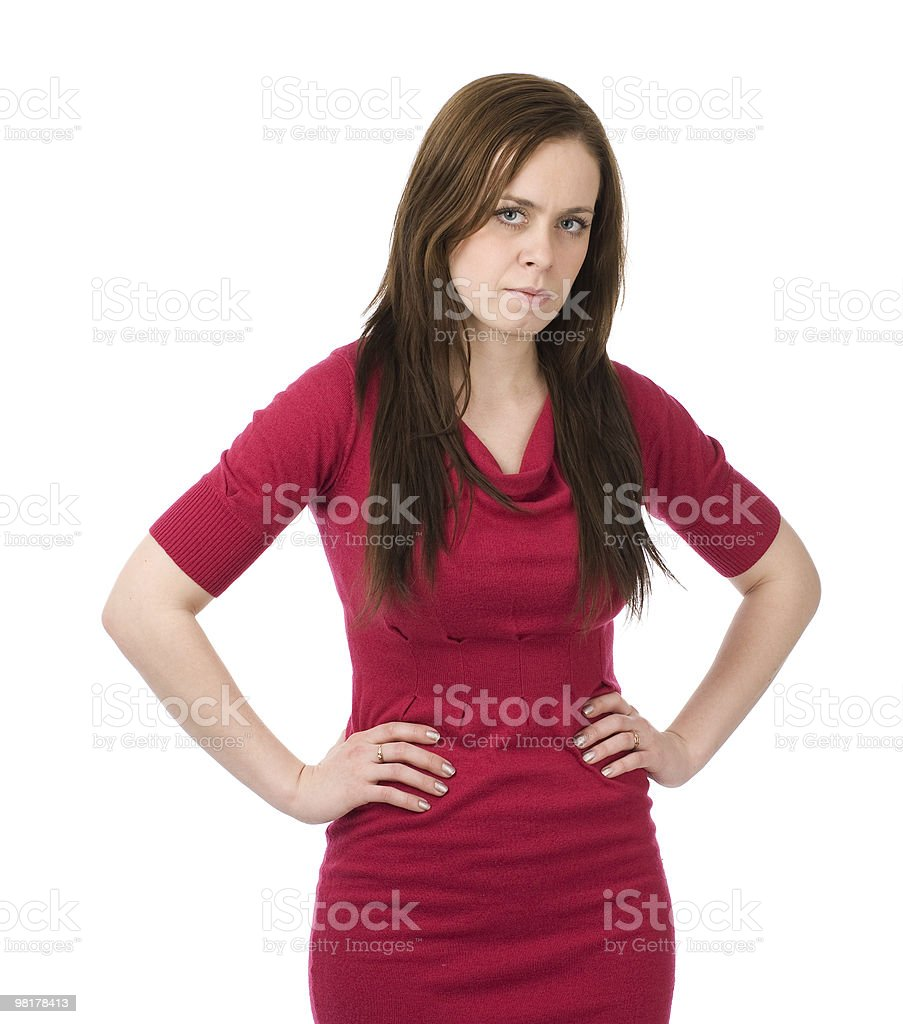 Young serious woman royalty-free stock photo