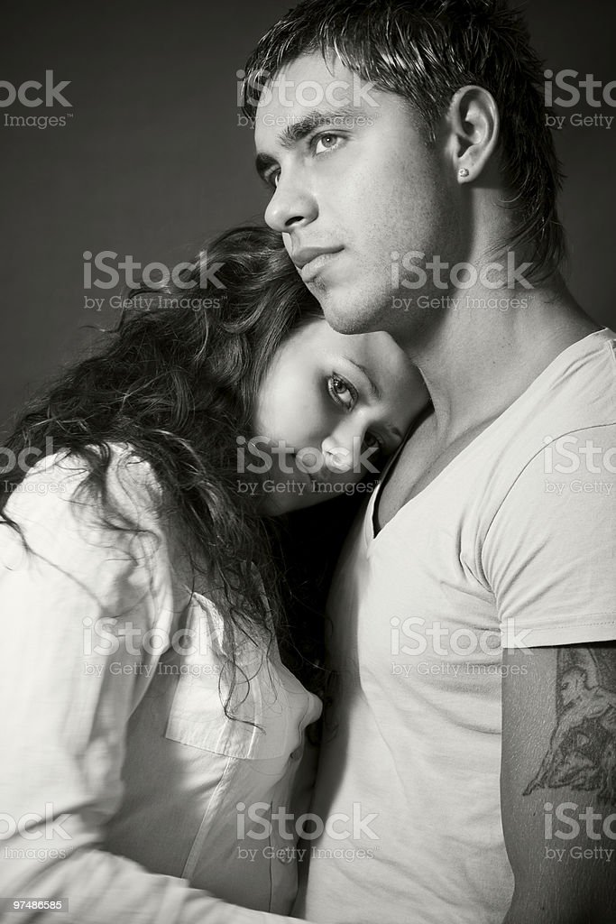Young sexy couple royalty-free stock photo