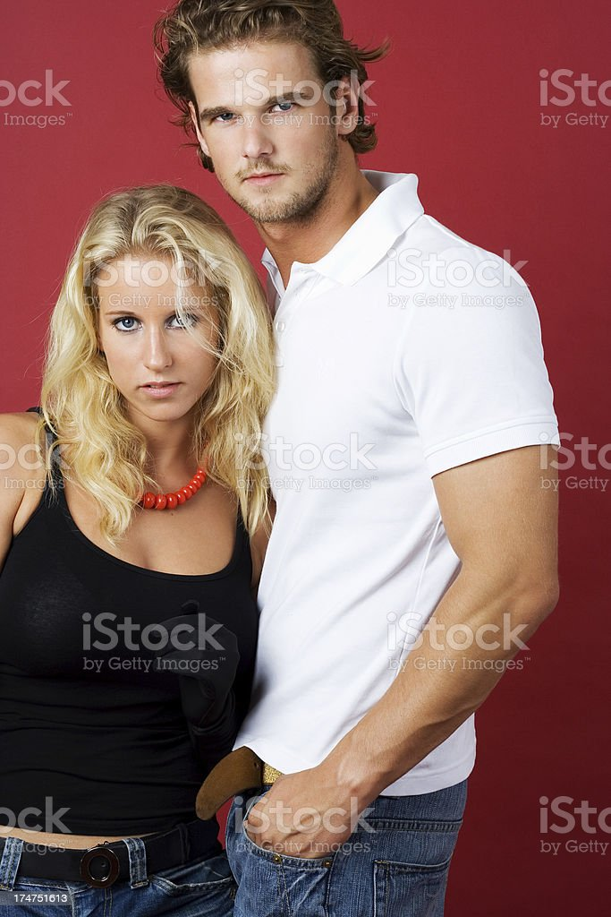 Young sexy couple posing royalty-free stock photo