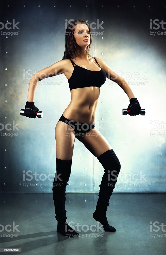 Young sexy fitness woman royalty-free stock photo