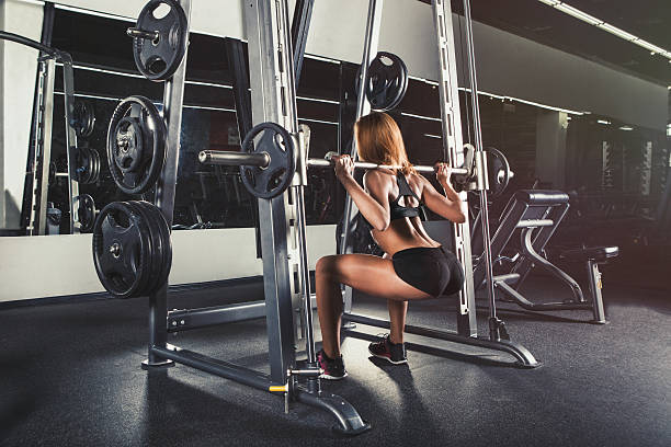 Young sexy girl in the gym – Foto