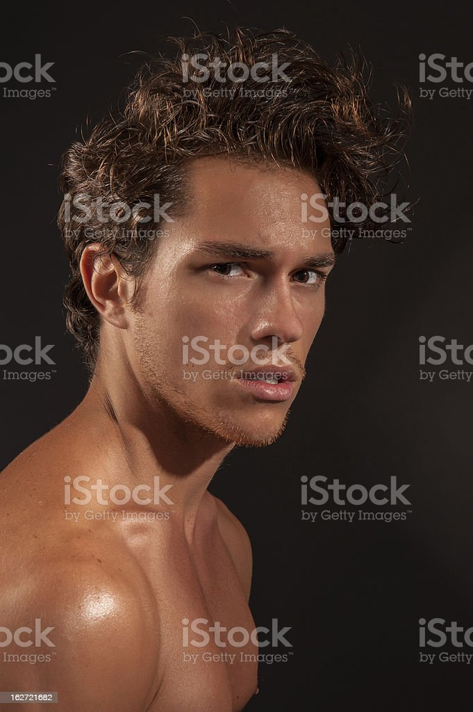 young sexy male adult royalty-free stock photo