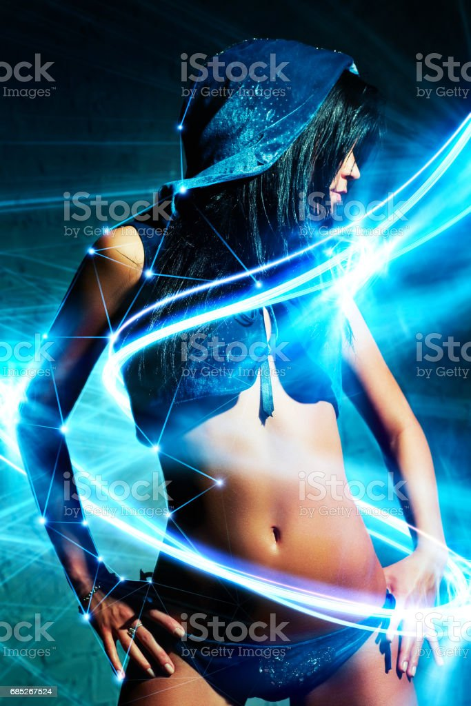 Young sexy woman dancer royalty-free stock photo