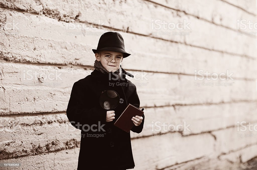 Young Sherlock Holmes royalty-free stock photo