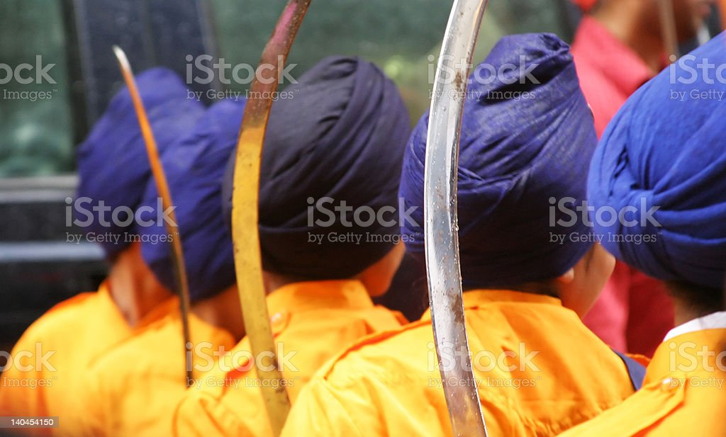 Young Sikhs stock photo