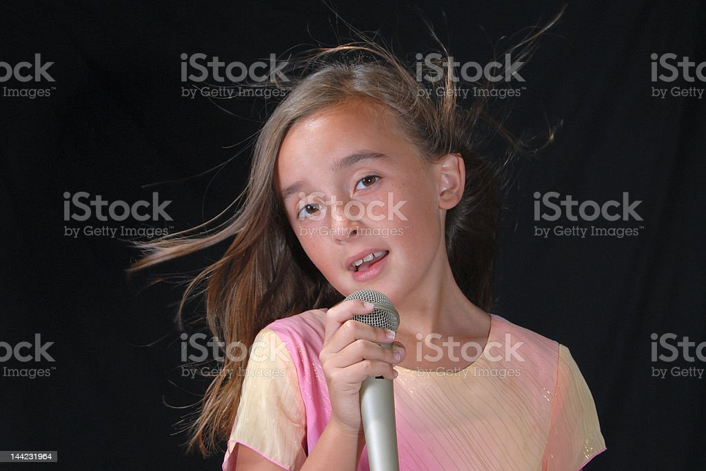 Young Singer 2 stock photo