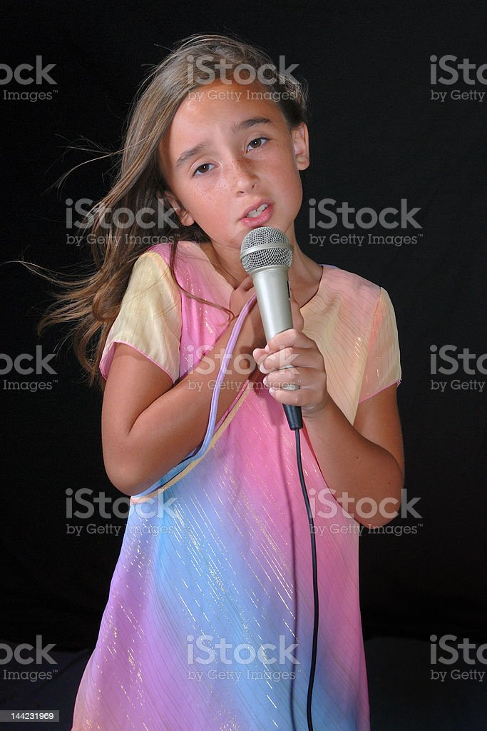 Young Singer 4 stock photo