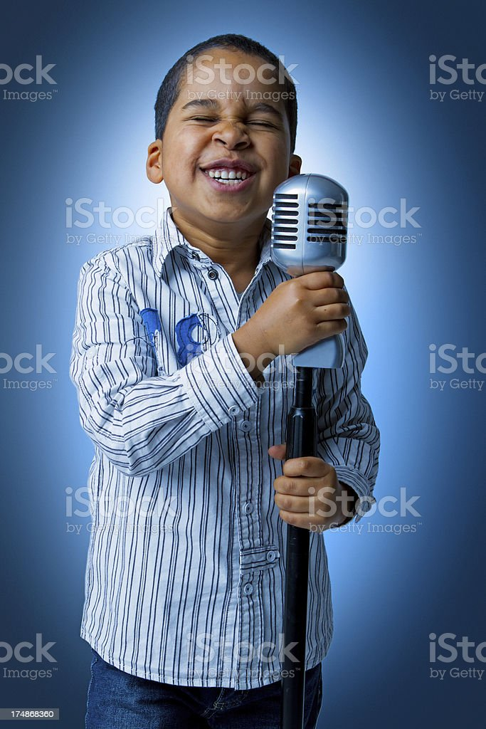Young singer stock photo