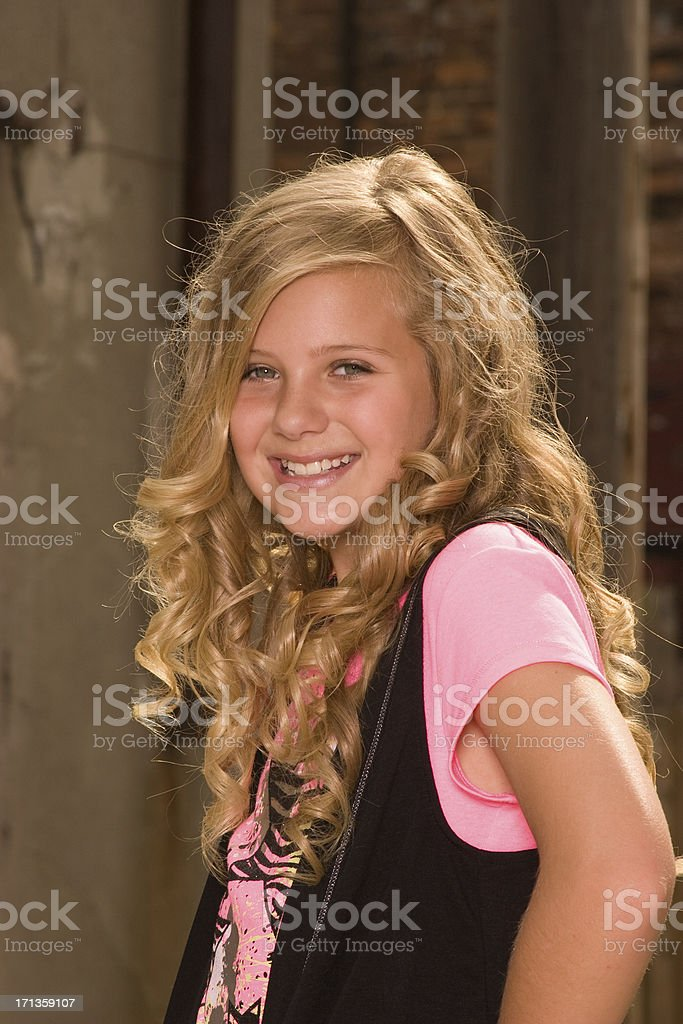 Young Skate Boarding Lady royalty-free stock photo